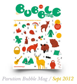 Parution Bubble Mag / Sept 2012